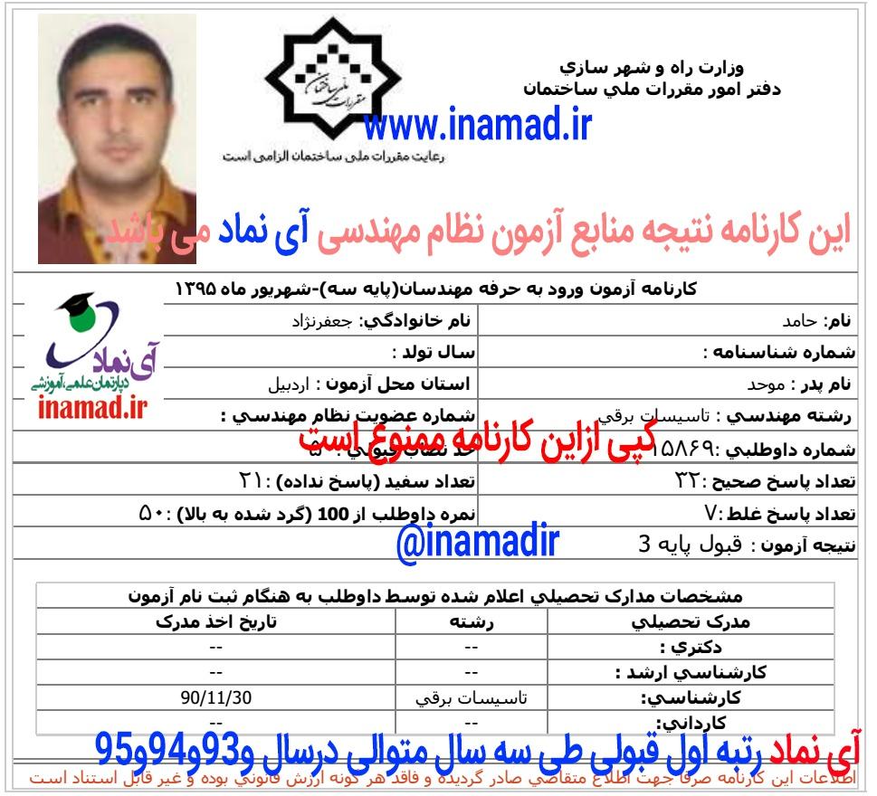 کارنامه های قبولی کارنامه های قبولی 6